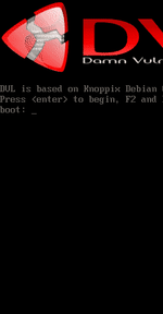 Damn Vulnerable Linux (DVL) 1.0 screenshot