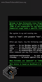 Damn Vulnerable Linux (DVL) 1.2 (Strychnine) screenshot