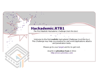 Hackademic RTB1 screenshot