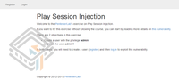 Pentester Lab Play Session Injection screenshot