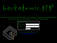 Hackademic RTB2 screenshot