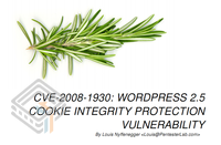 Pentester Lab CVE-2008-1930: Wordpress 2.5 Cookie Integrity Protection Vulnerability screenshot