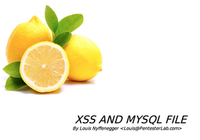 Pentester Lab XSS and MySQL FILE screenshot
